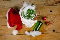 Bebidas de la Navidad del niño Fotografía de archivo