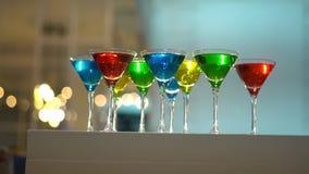 Bebidas de la Navidad o del Año Nuevo para Gala Dinner Cocktails-2 coloreado metrajes