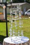 Bebidas de los vidrios en pirámide Fotografía de archivo