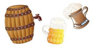 Bebidas de Oktoberfest Imagem de Stock Royalty Free