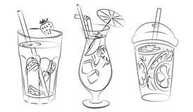 Bebidas de refrescamento ilustração royalty free
