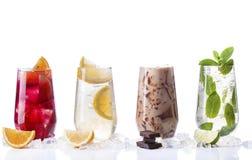 Bebidas de restauración del verano Imagen de archivo