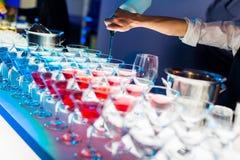Bebidas del cóctel imágenes de archivo libres de regalías