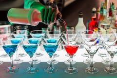 Bebidas del cóctel fotografía de archivo