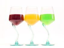 Bebidas del color Imagen de archivo