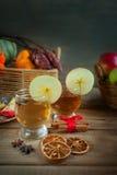 Bebidas del otoño con las especias Imágenes de archivo libres de regalías