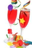 Bebidas del partido Fotografía de archivo libre de regalías
