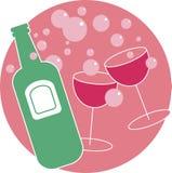 Bebidas del partido stock de ilustración