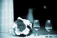 Bebidas del partido de la boda de la recepción nupcial Fotografía de archivo libre de regalías
