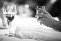 Bebidas del partido de la boda de la recepción nupcial Imágenes de archivo libres de regalías