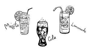 Bebidas del verano stock de ilustración