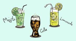 Bebidas del verano libre illustration