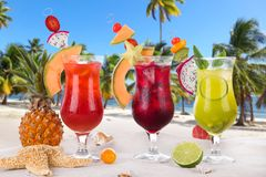 Bebidas del verano Fotos de archivo