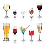 Bebidas do álcool ilustração stock