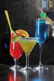 Bebidas do álcool em uma barra Foto de Stock Royalty Free