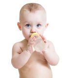 Bebidas do bebê do frasco Imagens de Stock