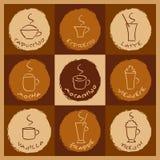 Bebidas do café ilustração do vetor