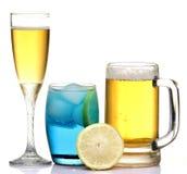 Bebidas do clube fotografia de stock