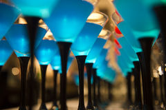 Bebidas do cocktail com cereja vermelha Fotos de Stock Royalty Free