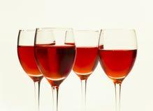 Bebidas do frio isoladas no branco Fotografia de Stock