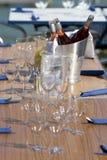 Bebidas do hora do almoço imagem de stock