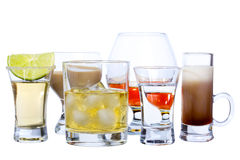 Bebidas do álcool Fotos de Stock Royalty Free