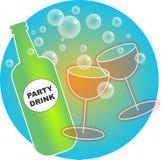Bebidas do partido Fotos de Stock Royalty Free