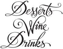 Bebidas do vinho de sobremesas Imagem de Stock