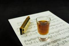 Bebidas e azuis Fotografia de Stock