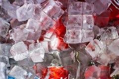 Bebidas en el hielo Foto de archivo libre de regalías