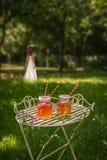 Bebidas en el parque Fotos de archivo