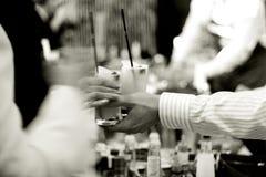 Bebidas en el partido Fotografía de archivo