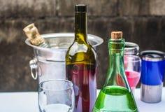 Bebidas en el partido Imágenes de archivo libres de regalías