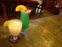 Bebidas en la barra Fotografía de archivo libre de regalías
