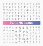 147 bebidas enrarecen el sistema del icono del vector libre illustration