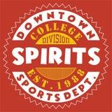Bebidas espirituosas céntricas del diseño stock de ilustración