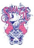 Bebidas espirituosas salvajes ilustración del vector