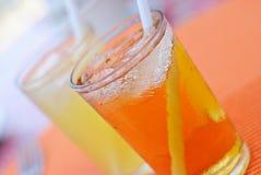 Bebidas frías de restauración del jugo Foto de archivo