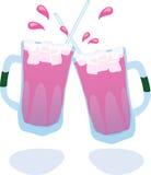 Bebidas heladas stock de ilustración