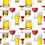 Bebidas inconsútiles del alcohol Foto de archivo libre de regalías