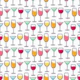 Bebidas multicoloras inconsútiles Foto de archivo
