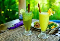 Bebidas orgânicas Fotografia de Stock Royalty Free