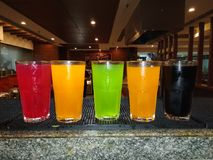 Bebidas para o rafrescamento foto de stock