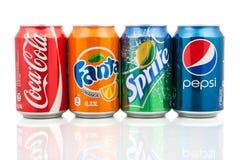 Bebidas populares de la soda Imagen de archivo