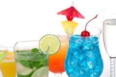 Bebidas populares de los cocteles con alcohol Foto de archivo libre de regalías