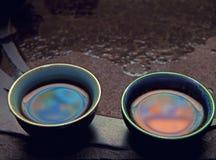 Bebidas quentes cerâmicas chinesas vermelhas do copo de chá Foto de Stock Royalty Free