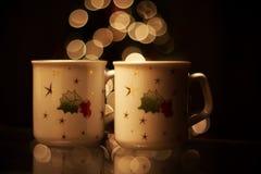 Bebidas quentes do Natal Fotografia de Stock