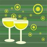 Bebidas retras cobardes Fotografía de archivo libre de regalías