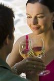 Bebidas românticas Fotos de Stock Royalty Free