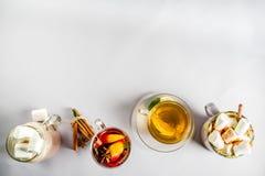 Bebidas tradicionales del otoño del invierno imagen de archivo libre de regalías